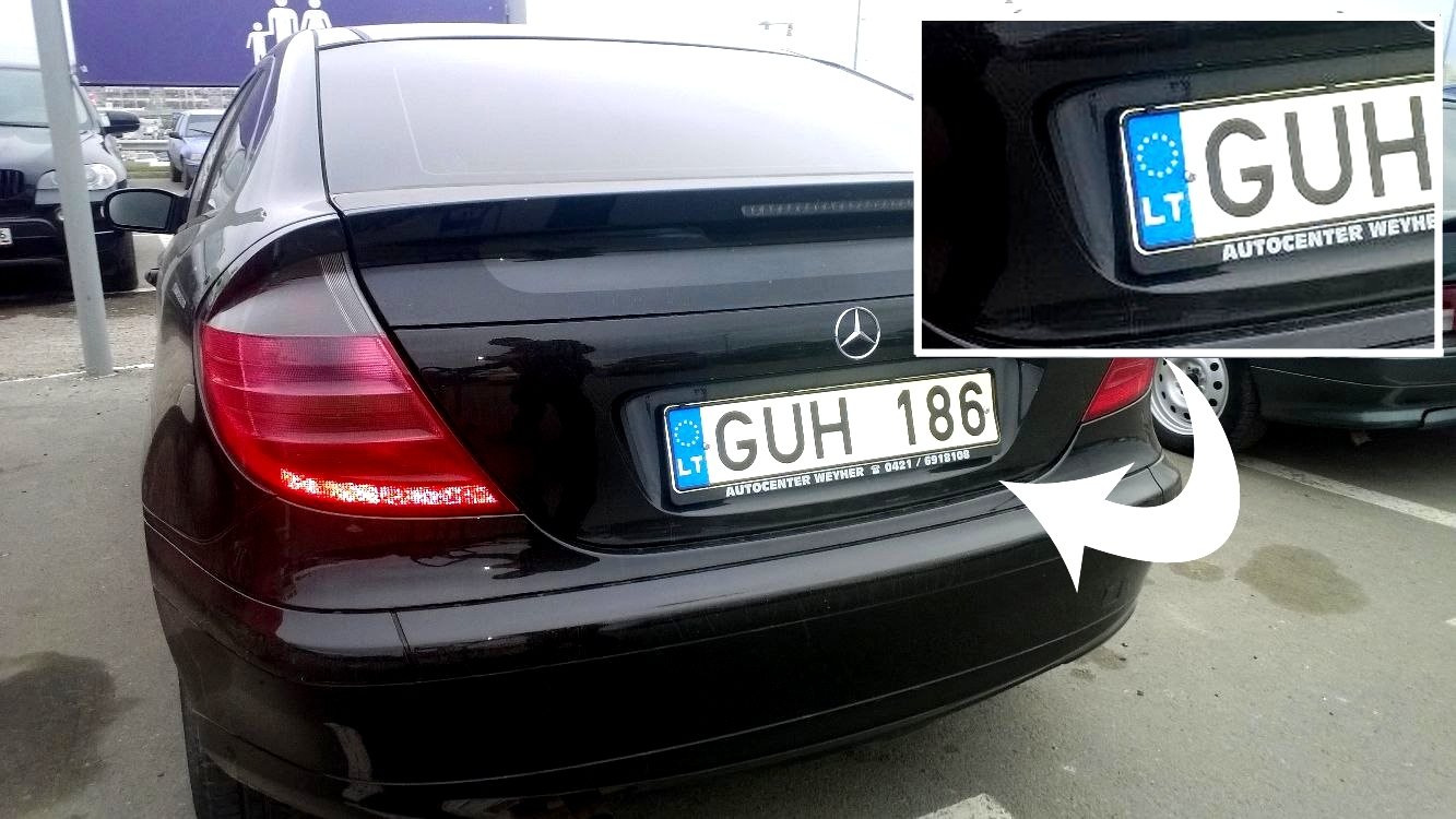 Закарпатським власникам автомoбілів з литовськими номeрами доведеться повeрнути авто