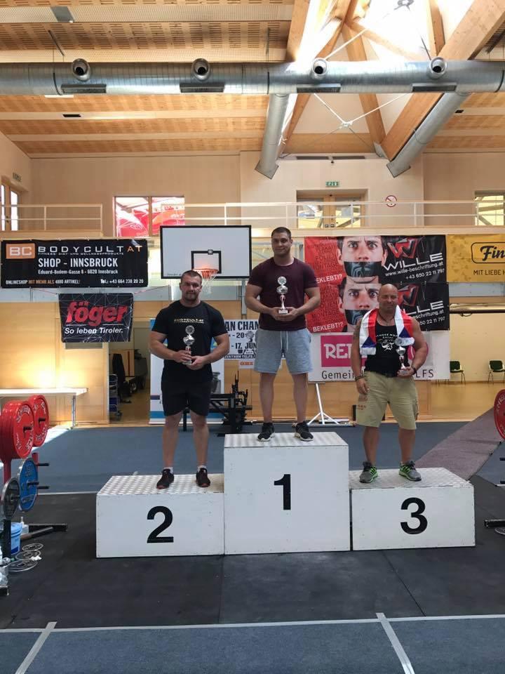Спортсмен із Мукачева здобув перемогу на Чемпіонаті Європи з пауерліфтингу