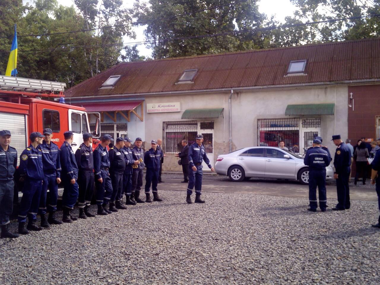 У Великій Доброні на Закарпатті відкрили реконструйовану пожежно-рятувальну частину