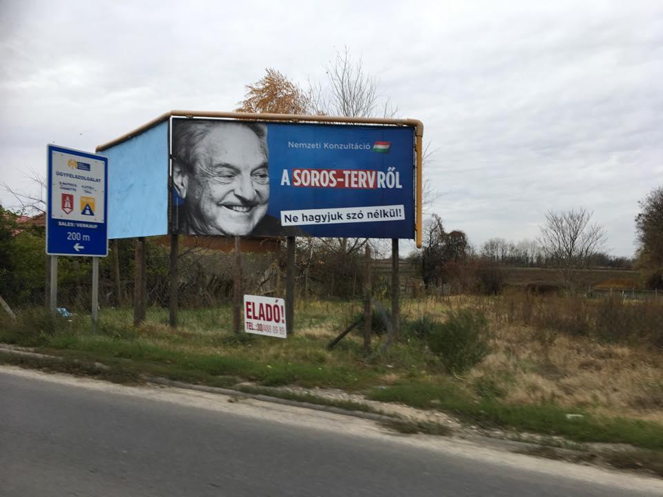 Проти Джорджа Сороса — білборди в Угорщині