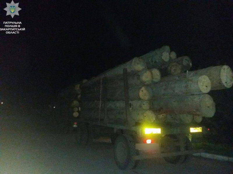 Патрульні виявили перевезення деревини з ймовірно незаконними документами (ФОТО)