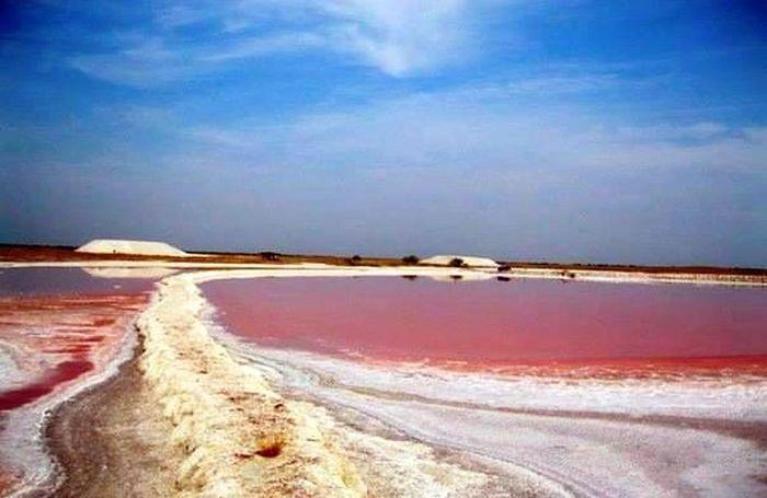 В Україні існує унікальне рожеве море (ФОТО)