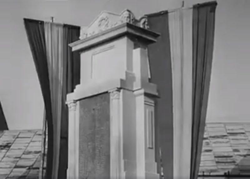 Історичне відкриття пам'ятника воїнам у Хусті в 1943 році (ВІДЕО)