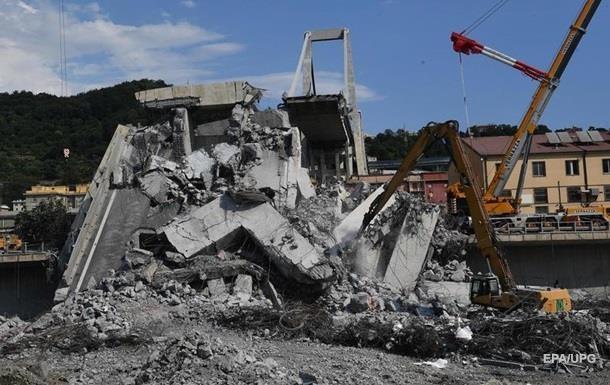 Обвал мосту в Італії: з'явилося відео моменту страшної катастрофи