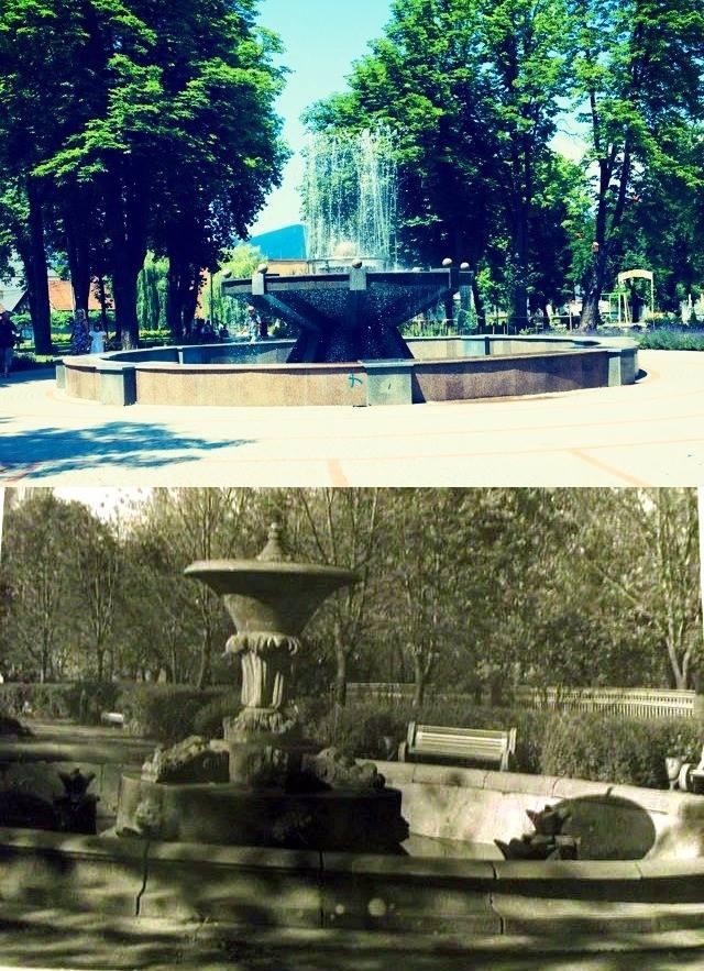 У мережі показали, як в минулому виглядав фонтан в центральному парку Хуста (ФОТО)