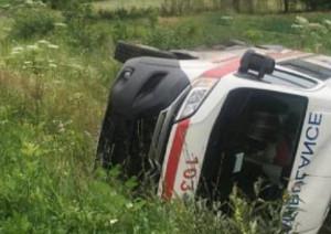Карета швидкої допомоги злетіла в Карпатський гірський потік