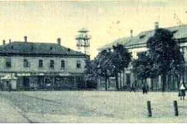 Пожежну башту в Тячеві можна побачити на архівних фото