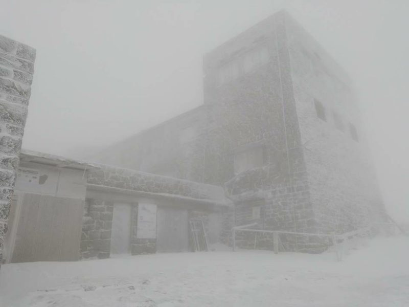 У Карпатах гора Піп Іван вкрилася снігом (ФОТО)