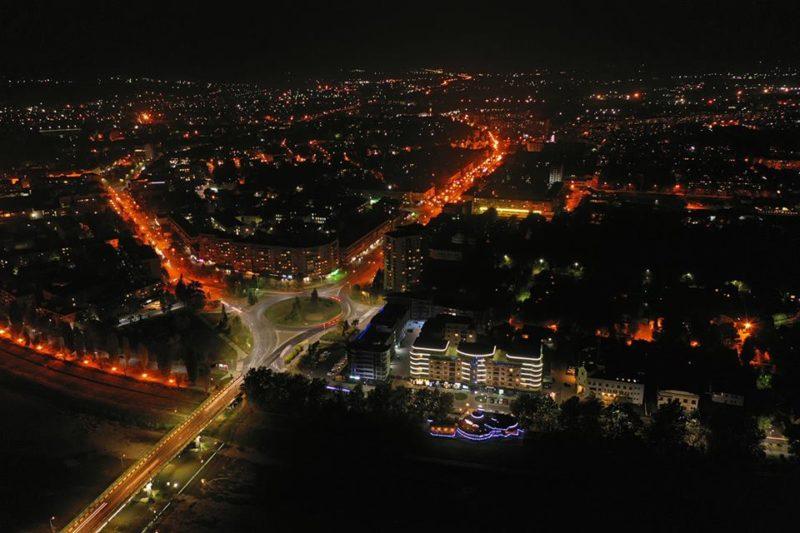 Вечірній Ужгород з висоти пташиного польоту (ФОТО)
