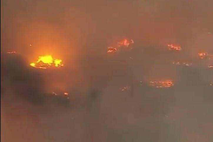 Місто у вогні: вигляд Каліфорнії з висоти пташиного польоту (ВІДЕО)