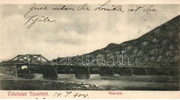 Тячівський міст колись був дерев'яним: світлини 1904 року (ФОТО)