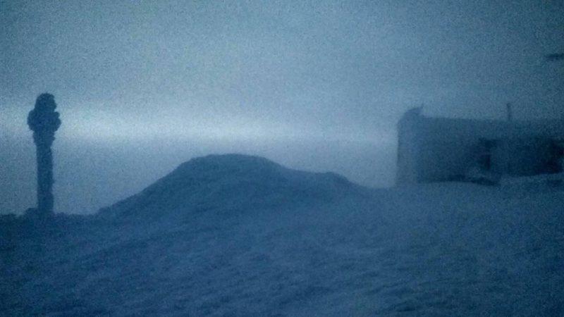 На горі Піп Іван обмежена видимість та температура -12°С (ФОТО)