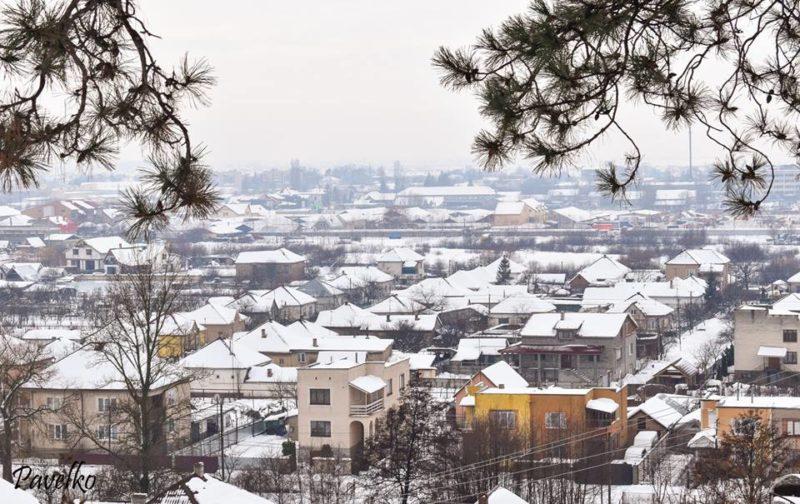 У мережі показали світлини засніженого Виноградова з висоти пташиного польоту (ФОТО)