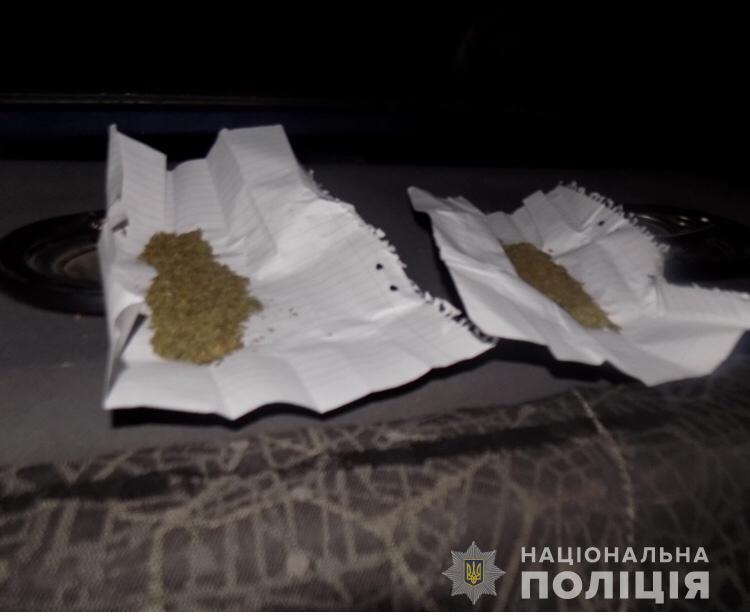На Перечинщині поліцейські, зупинивши порушника ПДР, знайшли в авто заборонені речовини (ФОТО)