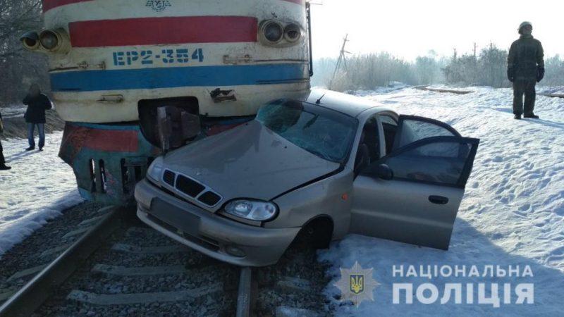 Поїзд протаранив легковик: водій не вижив (ФОТО)
