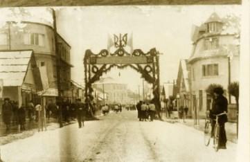 Погляд у минуле: центр Рахова у день виборів до Сойму Карпатської України,  фото 1939 року