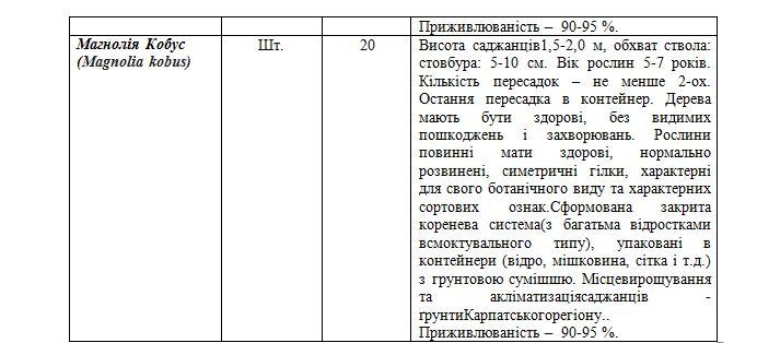 На озеленення одного з міст на Закарпатті планують виділити мільйон гривень (Документ), фото-4