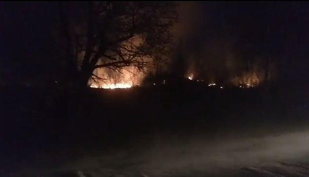 На Іршавщині масштабна пожежа: стовп вогню видно здалеку (ВІДЕО)