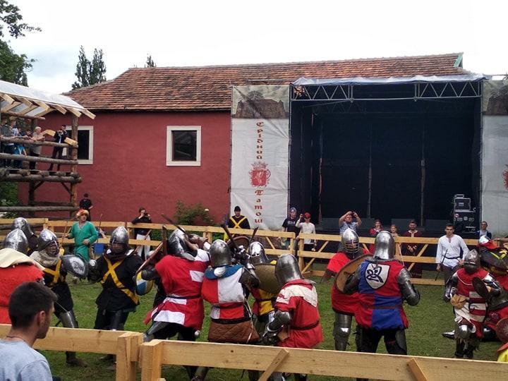 """Лицарські бої, кінні виступи, лучники: фестиваль """"Срібний татош"""" стартував на Мукачівщині"""