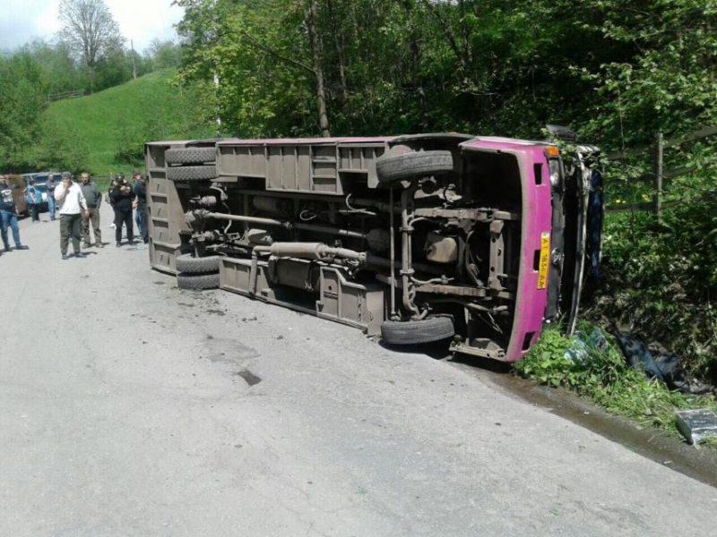 Смертельная автоаварія на Рахівщині: перекинувся автобус (Фото)