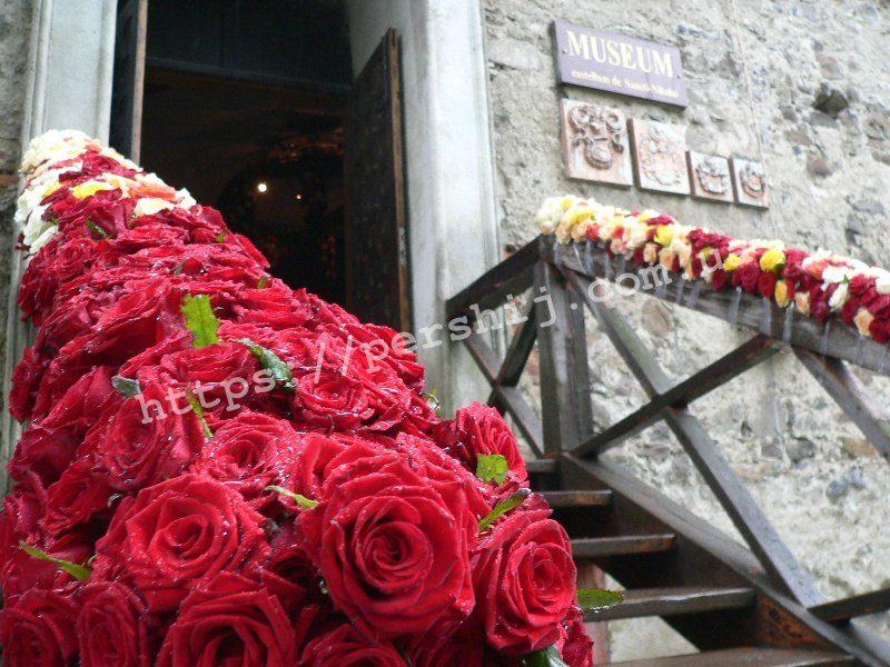 У полоні троянд опинилася середньовічна фортеця на Закарпатті (ФОТО)