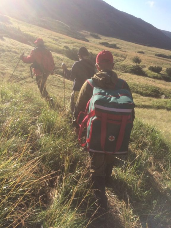 На Рахівщині у горах рятували туриста з Кривого Рогу (Фото)