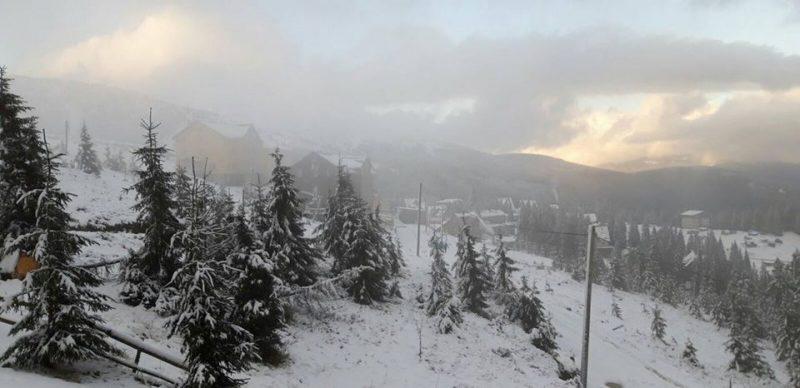 В Закарпаття прийшла зима: гори на Рахівщині засипало снігом (ФОТО)