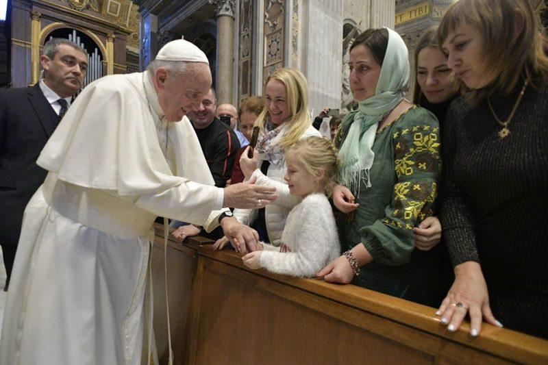 Папа Франциск зустрівся з паломниками з Закарпаття (ФОТО)