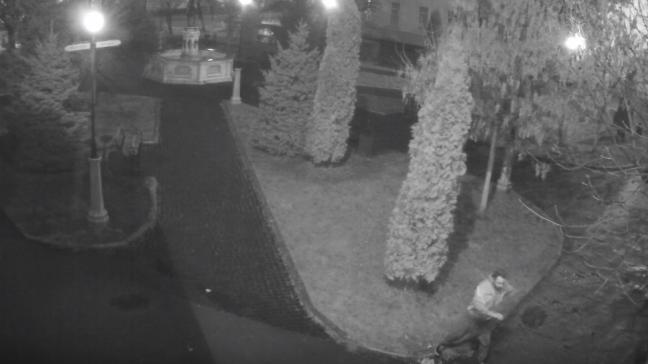 Руйнував все на своєму шляху: у Виноградові на камеру спостереження потрапив черговий вандал (ВІДЕО)