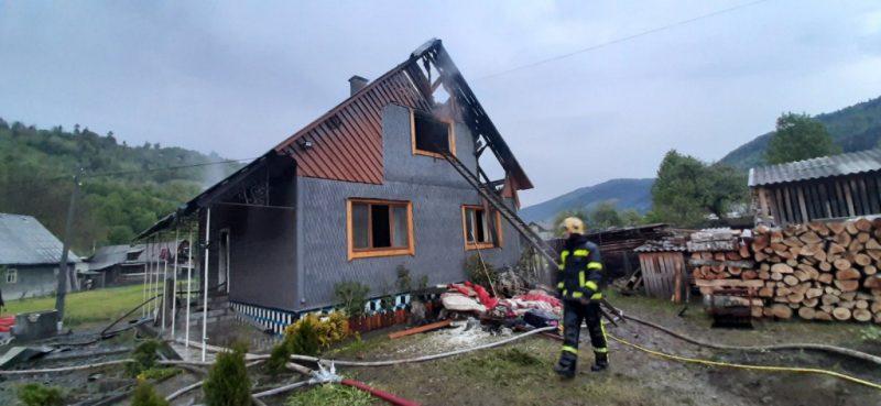 В Рахівському районі рятувальники ліквідували пожежу