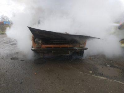 В Ужгороді під час руху загорівся автомобіль (ФОТО)