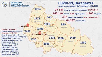 Кількість нових інфікованих COVID-19 на Закарпатті різко збільшилася: оновлена статистика за добу
