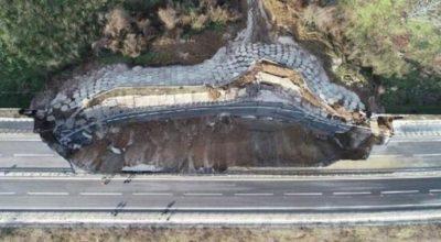 Масштабний обвал у Туреччині: через зсуви обрушилася частина автомагістралі (ФОТО)