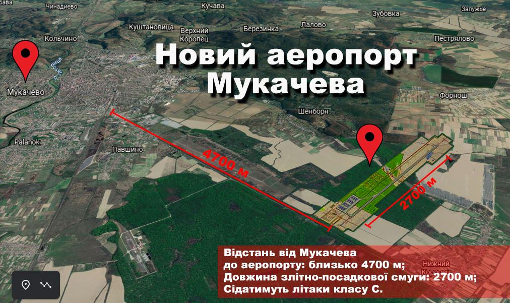 Майбутній аеропорт Мукачева: нове місцерозташування показали з коптера (ВІДЕО)