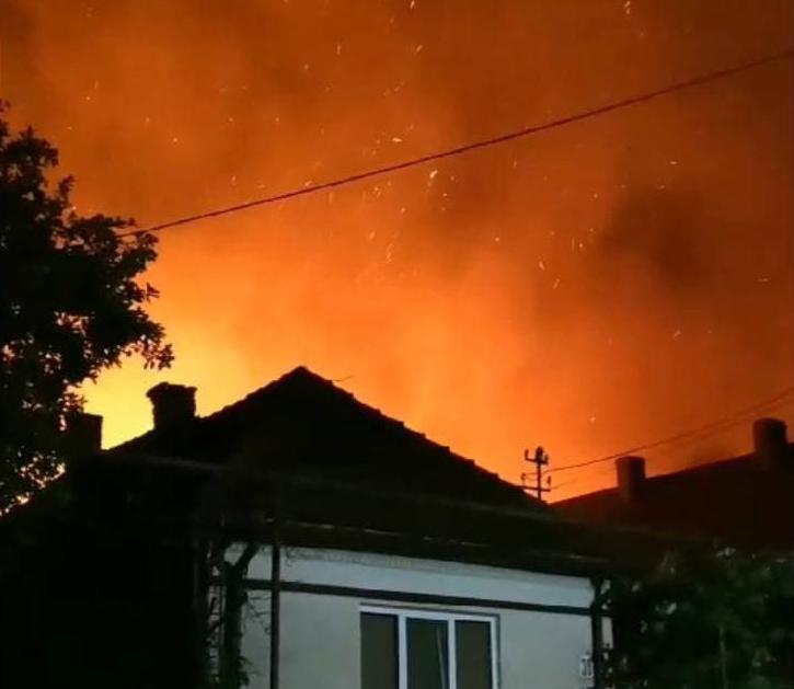 Масштабна нічна пожежа поблизу Мукачева: відомо, що стало осередком займання